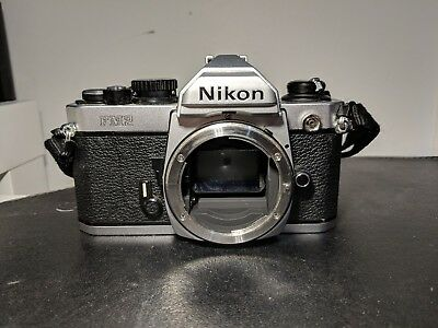 Nikon FM2 Silver Analog Film Camera 35mm Working Condition