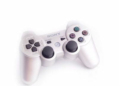 Original Official Sony Dual Shock 3 PS3 Bluetooth Wireless Controller Silver