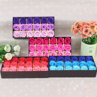 18Pcs Soap Roses Scented Rose Flower Petal Bath Body Soap Wedding Party Gift
