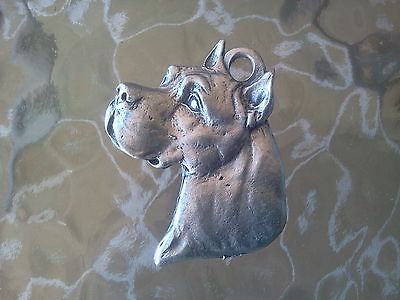 HOME PET DOG ANIMAL 1 PUREBRED PIT BULL PEWTER PENDANT or POCKET COIN ALL NEW.