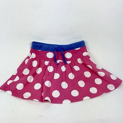 Girls Mini Boden Little Girl Polka Dot Mini Skort Skirt Sz 9-10Y F3