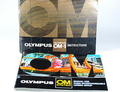Olympus OM-1 Instruction Manual and OM Interchageeable Lens Group Manual
