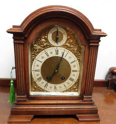 oak cased lenzkirch bracket clock