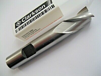 12mm HSSCo8 3 FLUTED SLOT DRILL / END MILL EUROPA TOOL CLARKSON 1031021200 #P197