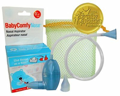 Nasal Aspirator The Snotsucker Hygienically & Safely Removes Baby's Mucus – Blue