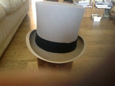 Grey Top Hat by Lock & Co uk size 7 - 7 1/8