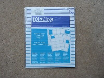 KENRO RINGBINDER STORAGE SHEETS FOR  35mm FILM STRIPS - PACK OF 10 -NEW