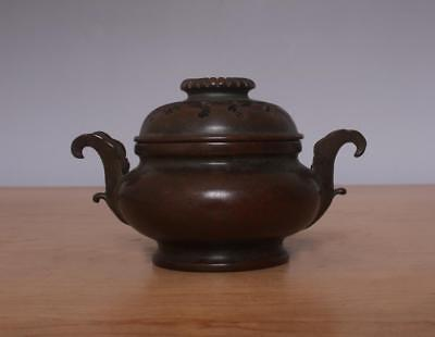 Xuande signed Chinese Bronze or Copper Incense Burner w/Pattern
