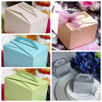 100 Tote Boxes with Handles for Wedding Favors Ideas for Cute Decorations SALE