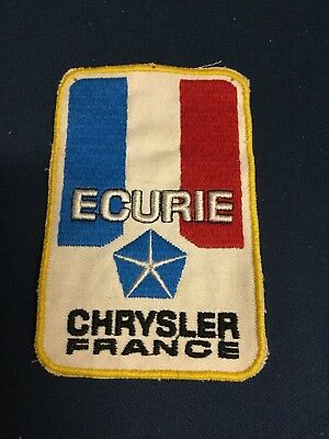 Rare Ecusson Original Course Auto ECURIE CHRYSLER FRANCE 1970 !!!