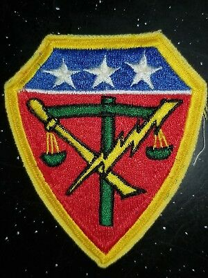 WWII US Army Japan War Crimes Trial Theater Made Patch Variation