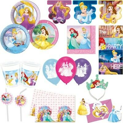 Disney Princess Prinzessin Kindergeburtstag Rapunzel Cinderella Party Set Deko