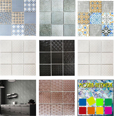 RETRO TILES VINTAGE CERAMIC MOSAIC floor wall shower kitchen backsplash - VIGO