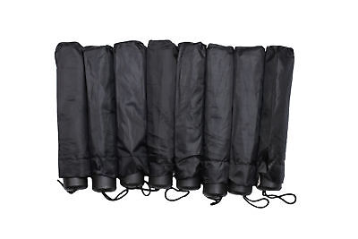 "Lot of 8  Umbrellas Rain Telescopic Folding 42"" With Storage Travel  Pouch New"