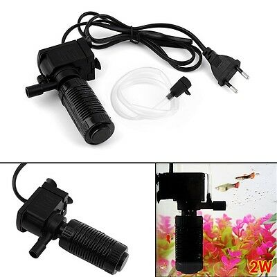 Mini 3 in 1 Aquarium Internal Filter Fish Tank Submersible Pump Spray EU NYqw