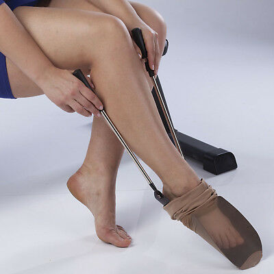 NEW Easy To Use Extendable Sock And Pantyhose Aid With Adjustable Handles