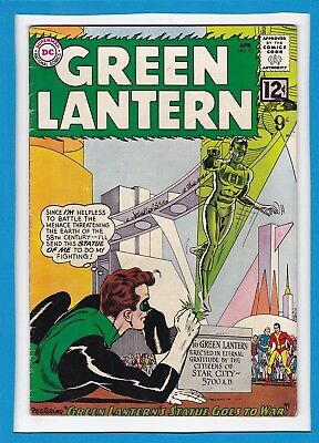 """Green Lantern #12_April 1962_F/vf_""""the Statue That Went To War""""_Silver Age Dc!"""
