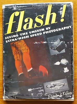 Signed Harold Edgerton - Flash Seeing The Unseen 1939 1St Edition & 1St Printing