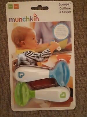 Munchkin Baby Self Feeding Scooper Spoons Pack Of 2 Multi Colored Free PP