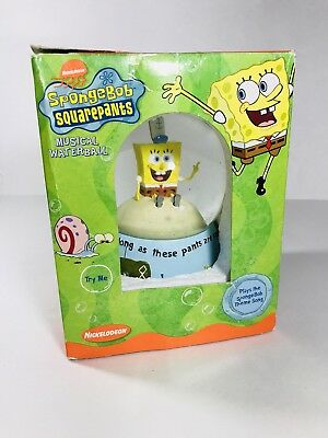 "Spongebob Squarepants 5.5"" Musical Glass Snowglobe with Theme Song ENESCO"
