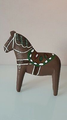 Antique Swedish Dala Horse. Folk Art Carved Sweden Hand Painted.VERY RARE!!!