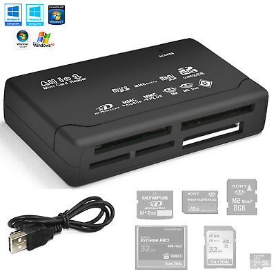 All in 1 USB Compact Flash Multi Card Reader Adapter for SD Micro SD MS XD HUB