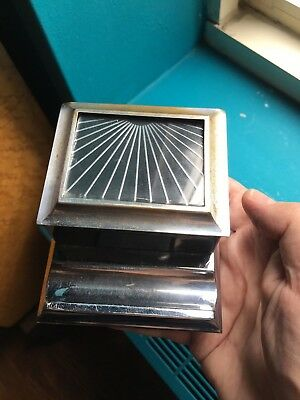 Art Deco Metal & Glass Box with Pen Holder