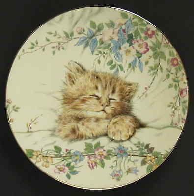 Royal Worcester KITTEN CLASSICS Cat Nap Plate 1985