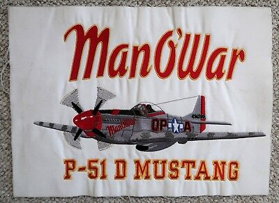 Man-O-War Sew Out P-51 Embroidery Un-Framed Wwii