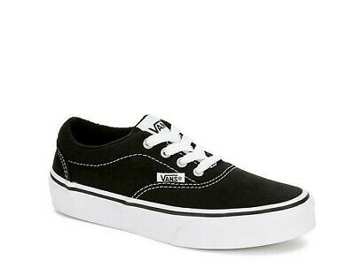 e9c76392360664 VANS Doheny Kids Sneakers Black+White Athletic Casual Skate Shoes Boys Youth