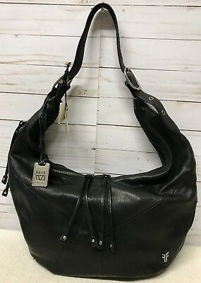 d7e544983b FRYE BELLE BOHEMIAN Black Leather Hobo Bag  458 -  249.00