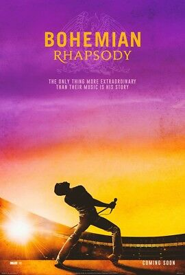 "Bohemian Rhapsody Movie Poster Rami Malek Queen Film Print 24x36"" 27x40"" 32x48"""