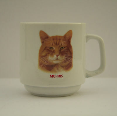 Morris the Cat Mug Papel Vintage Ceramic Cup Advertising Mascot 9Lives Tabby TV