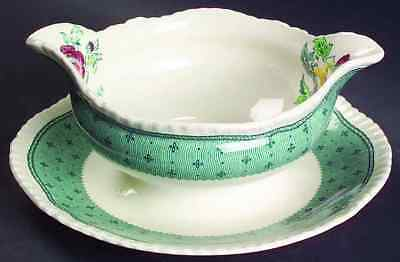 Ridgway PLYMOUTH GREEN Gravy Boat & Underplate 611559