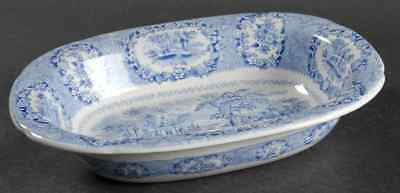 Ridgway ORIENTAL BLUE (GOLD TRIM) Oval Vegetable Bowl 611489