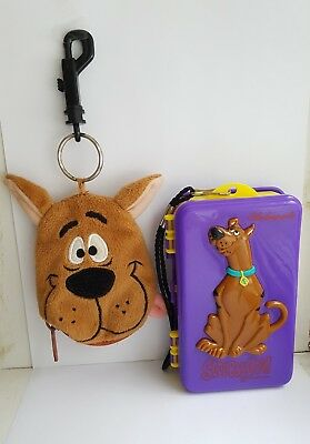 Vintage Scooby doo bundle coin purse keychain doubled sided storeage box 2000