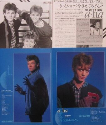 A-ha Morten Harket Paul Magne 1986 CLIPPING JAPAN MAGAZINE K3 A11 6PAGE