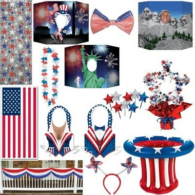 American Decoration Usa Themed Party Deco New York Red Blue White