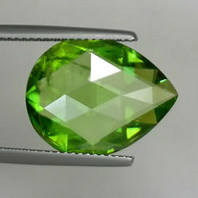 9.43 cts SHIMMERING _RARE   NATURAL SPHENE  checker cut drop   #   5614 SBS
