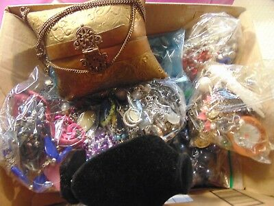 Nice Huge Heavy Vintage Antique Brass Purse Costume to Now Jewelry Lot