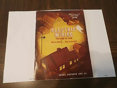 1951-1952 Edition Electric Wiring For Home Or Farm-Sears,roebuck And Co.