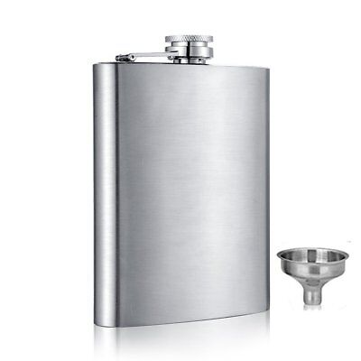 6 8 10 oz Liquor Stainless Steel Pocket Hip Flask Screw Cap with Funnel