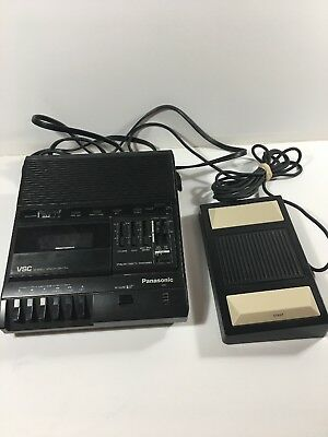 Panasonic RR-830 VSC Cassette Tape Dictation Transcriber & Foot Pedal RP-2692