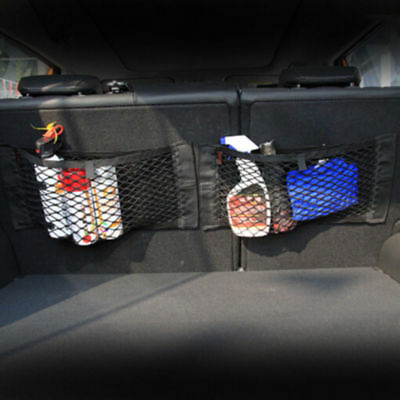 Car Rear Cargo Organizer Storage Elastic String Net Mesh Bag Pocket Black Trunk
