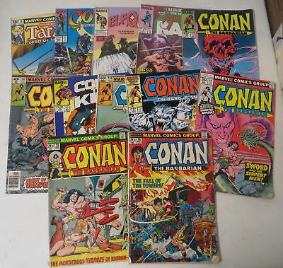 Vintage 1970s MARVEL COMIC BOOK LOT CONAN the Barbarian #25 #26 KANE Tarzan (12)