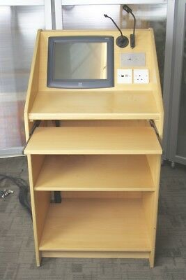 Wooden Lectern Unit With Built In Video Amplifier