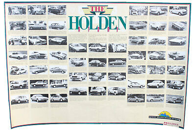 The Holden Story Poster 1948 - 1988 48/215 - VL Commodore Genuine