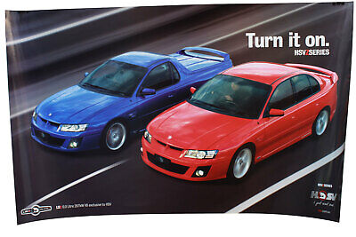 Large HSV Z Series VZ Clubsport Maloo Poster LS2 6.0 Ltr Holden Special Vehicles