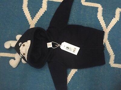 Seed Heritage navy baby sweater/ jumper 0-3 months BNWT