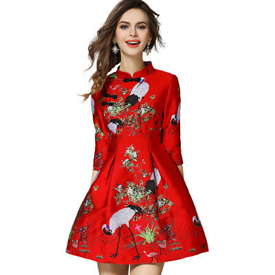 Woman Chinese Cheongsam Blouse Dress Qipao Tang Suit Traditional Wedding Clothes